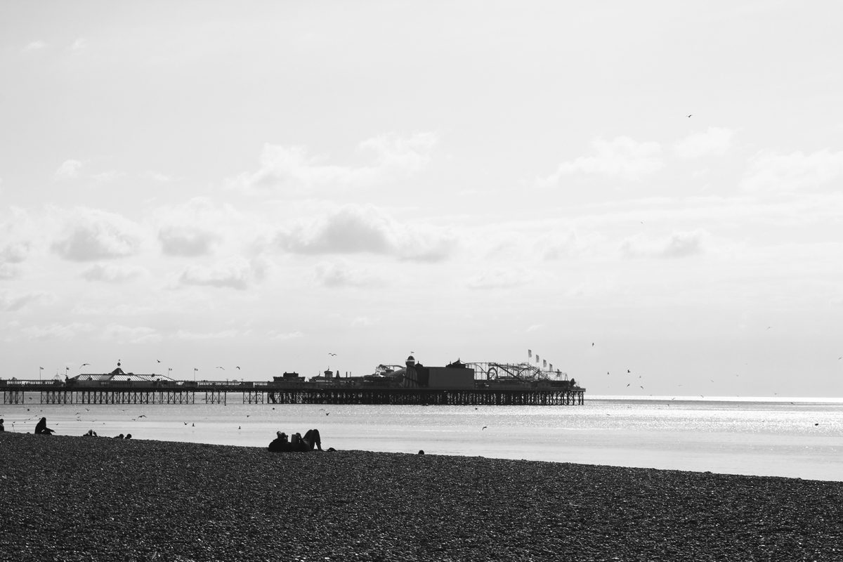 Pure relaxation at the Brighton Pier