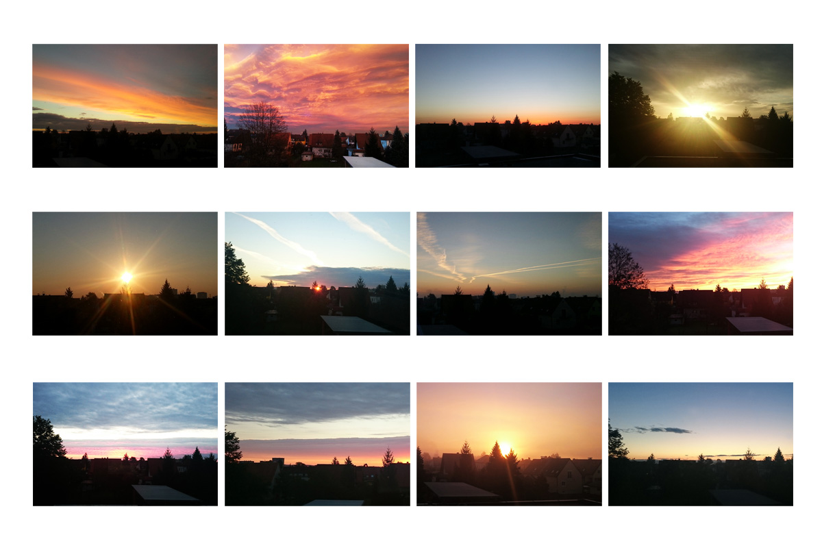 My personal photo project with sunrises