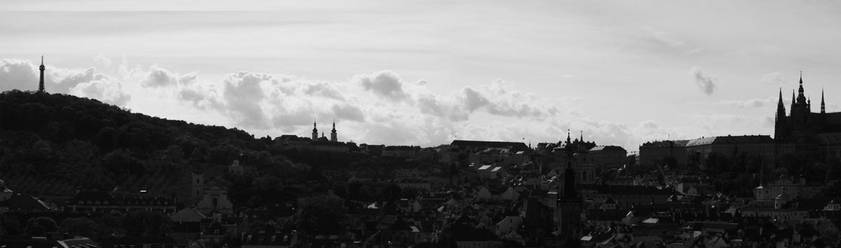 Prague panorama black & white