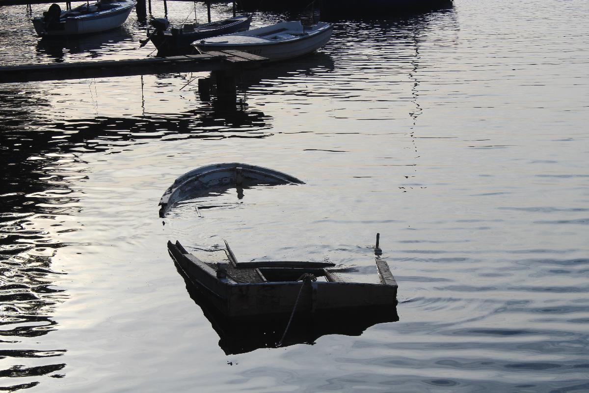 Sunkissed sunken boat