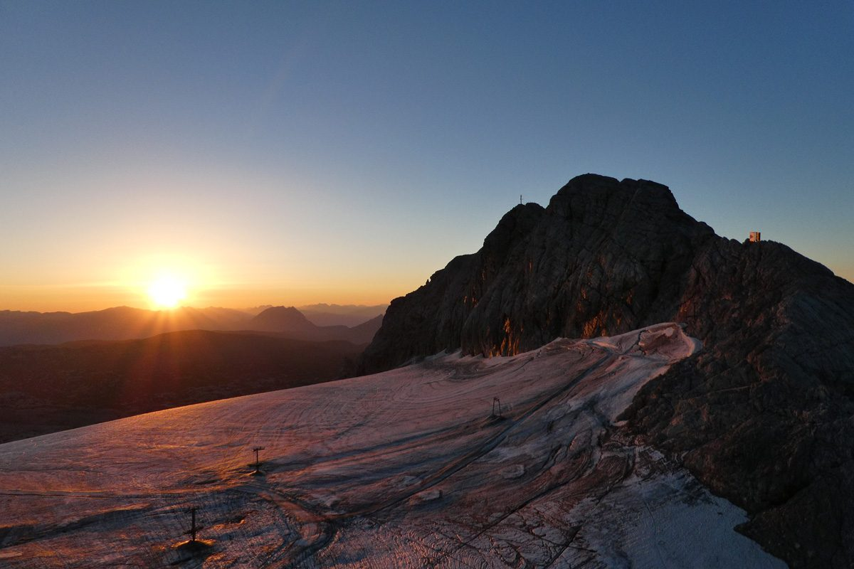 Nice atmosphere at the Dachstein glacier