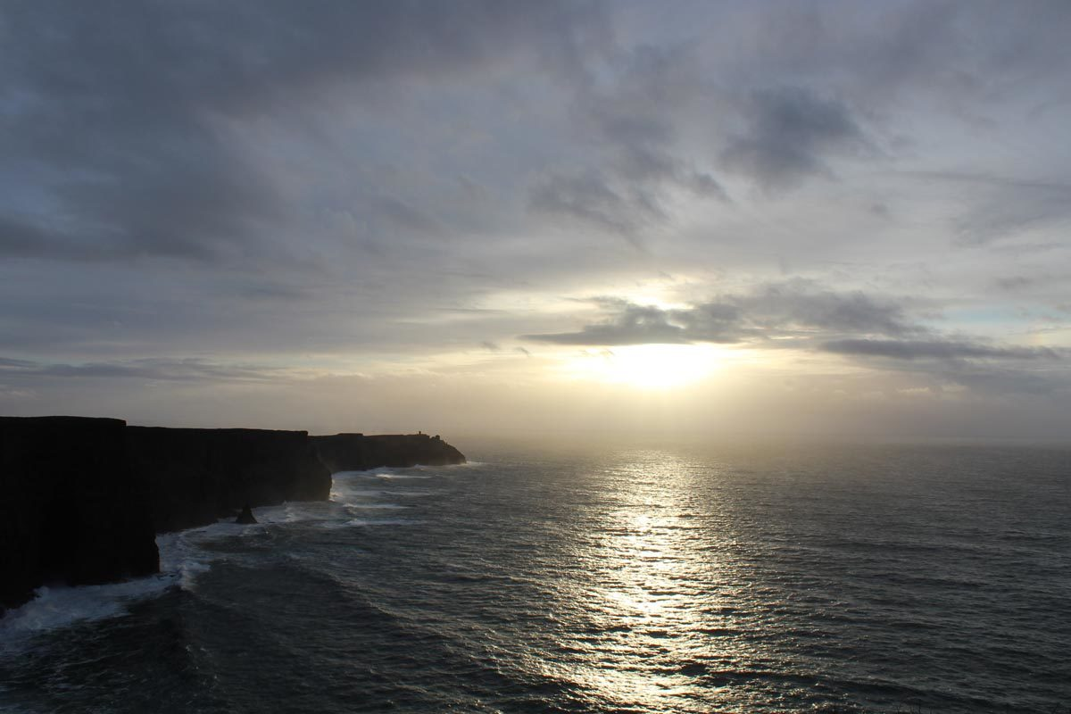 Cliffs of Moher gorgeous sunset