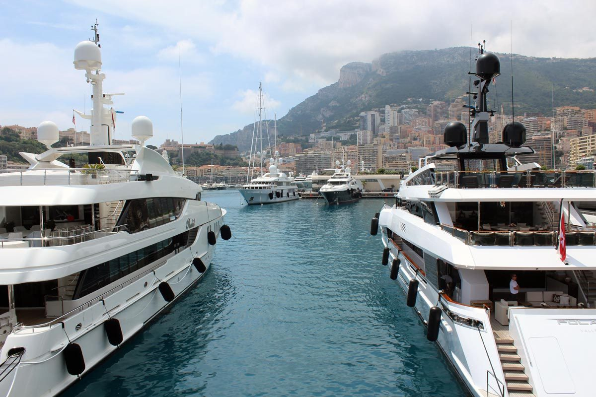 Yacht harbour in Monaco