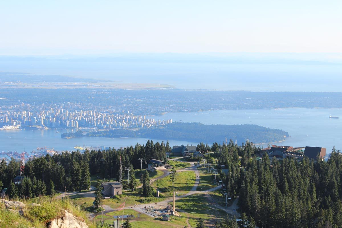 Vancouver outlook from Grouse Mountain