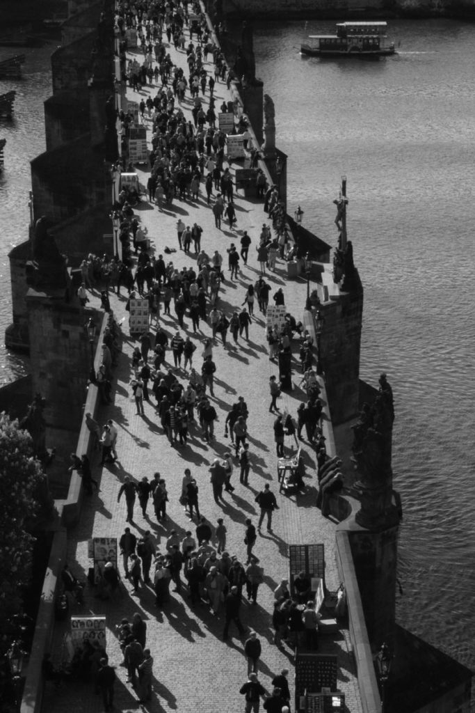 Charles bridge in B&W