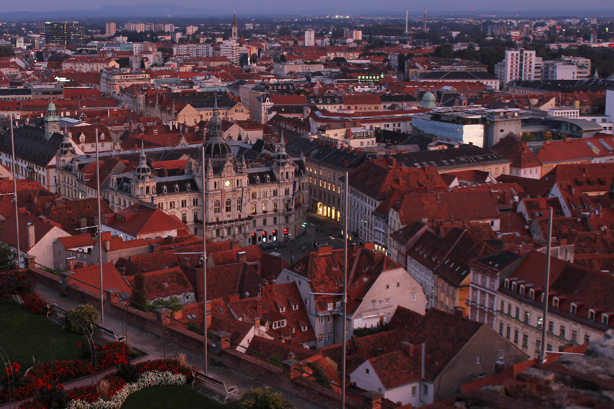 Graz city view