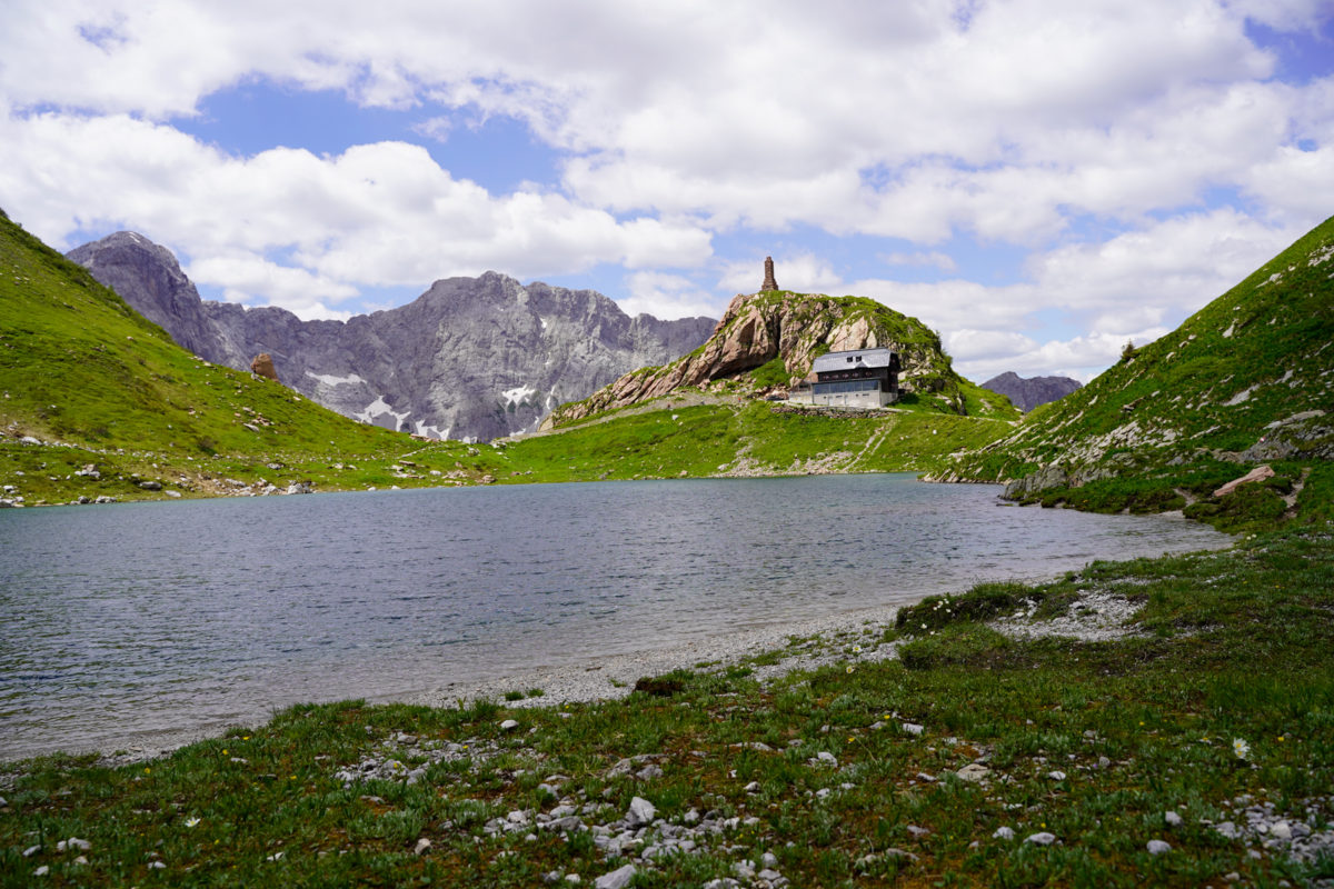 Wolayersee lake in Carinthia