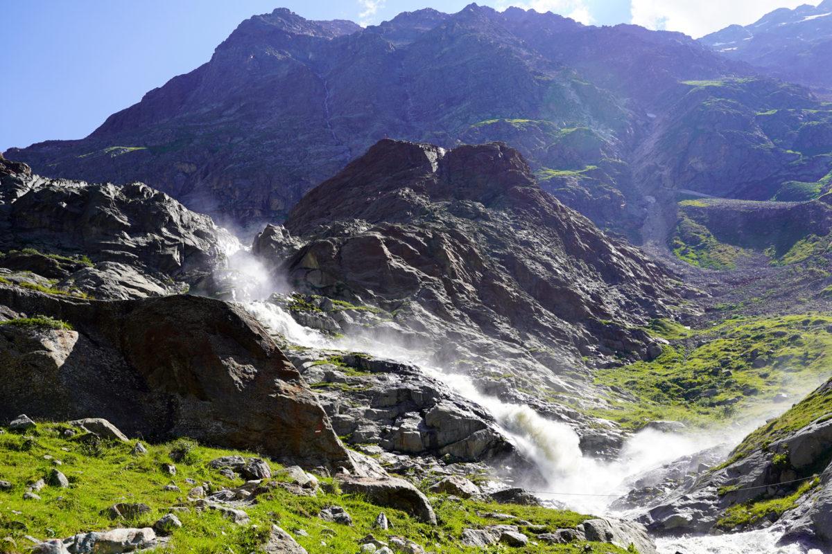 Pitztal waterfall