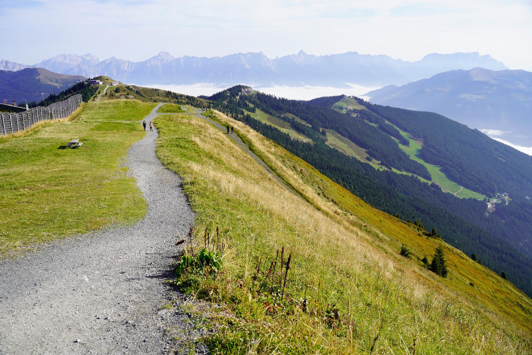 Hiking adventure on Schmittenhoehe